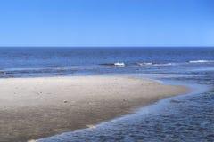 Banco di sabbia sulla spiaggia in Germania del Nord fotografia stock