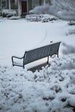 Banco di Snowy immagini stock