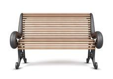 Banco di sosta isolato su priorità bassa bianca 3d rendono i cilindri di image Fotografia Stock