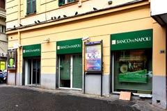 Banco diNapoli bank av Naples Naples, Italien Arkivbilder