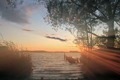 Banco do lago Imagem de Stock Royalty Free
