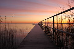 Banco do lago Fotografia de Stock Royalty Free