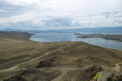 Banco do Lago Baikal Rússia imagem de stock royalty free
