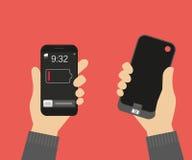 Banco do poder para o smartphone Fotografia de Stock Royalty Free