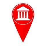 Banco do ponteiro do mapa Foto de Stock Royalty Free