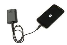 Banco do telefone celular e da bateria imagens de stock royalty free