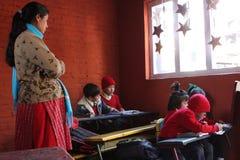 Banco domestico felice a Kathmandu Immagini Stock