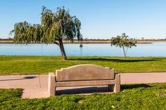 Banco ed alberi al parco della baia di missione Fotografia Stock Libera da Diritti