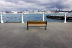 Banco em Uskudar - Istambul Foto de Stock