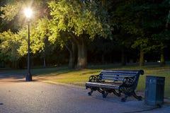 Banco en el parque Foto de archivo libre de regalías