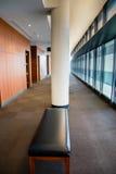 Banco en el vestíbulo Imágenes de archivo libres de regalías