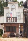 Banco en estilo del oeste salvaje Fotografía de archivo