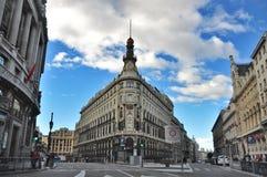 Banco en Madrid Imagen de archivo libre de regalías