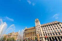 Banco Espanol de Credito - Barcellona Fotografia Stock Libera da Diritti
