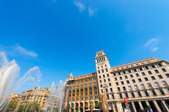 Banco Espanol de Credito - Barcelona Royalty Free Stock Photo