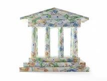 Banco europeo imagen de archivo