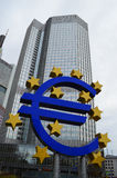 Banco europeo Francfort del quintal Fotos de archivo