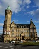 Banco famoso de la ciudad de Luxemburgo Fotografía de archivo