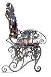 Banco forgiato con l'ornamento dell'uva. Immagini Stock