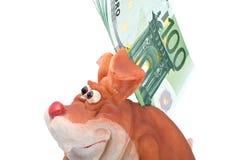 Banco imóvel e euro Fotos de Stock
