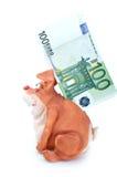Banco imóvel e euro Foto de Stock Royalty Free
