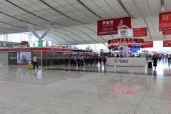 Banco informazioni della stazione ferroviaria del nord di Shenzhen Immagine Stock Libera da Diritti