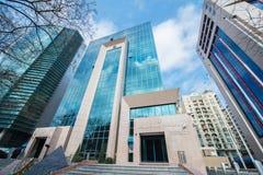 Banco internacional do escritório de Azerbaijão sobre foto de stock royalty free