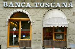Banco italiano em Toscânia Fotografia de Stock