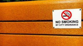Banco não fumadores Imagem de Stock Royalty Free