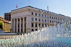 Banco Nacional croata en Zagreb fotografía de archivo libre de regalías