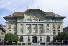Banco Nacional suíço fotografia de stock