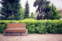Banco nel parco Fotografia Stock Libera da Diritti