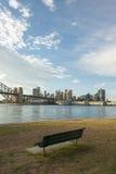 Banco nel parco del nord di Sydney Fotografia Stock Libera da Diritti