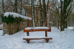 Banco nell'inverno Fotografia Stock Libera da Diritti