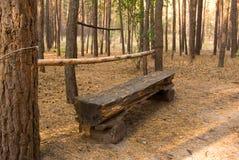Banco nella foresta immagini stock