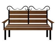 Banco ou projeto de madeira do ícone da cadeira Imagem de Stock