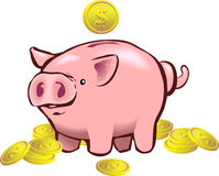 Banco Piggy Imagem de Stock Royalty Free