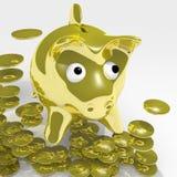 Banco Piggy ilustração royalty free
