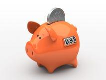Banco piggy alaranjado Imagens de Stock Royalty Free