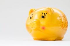 Banco Piggy amarelo Imagem de Stock