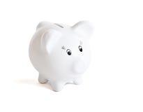 Banco piggy branco Imagem de Stock