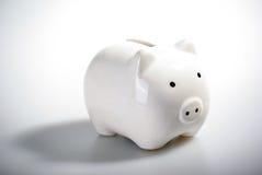 Banco piggy branco lindo Imagens de Stock