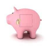 Banco Piggy com cadeado Imagem de Stock Royalty Free