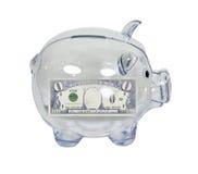 Banco Piggy com economias zero Fotos de Stock