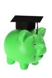 Banco Piggy com Mortarboard Imagens de Stock Royalty Free
