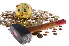 Banco Piggy com pequena alteração Imagens de Stock