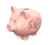 Banco Piggy com porta do vault Imagem de Stock