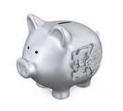 Banco Piggy com porta do vault Foto de Stock