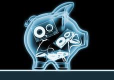 Banco Piggy com raios X. Ilustração do Vetor