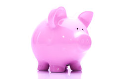 Banco piggy cor-de-rosa Foto de Stock Royalty Free